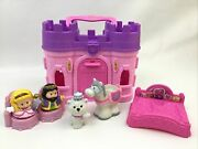 Fisher Price Little People Play N Go Castle Pink Figures Horse Accessories