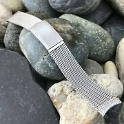 Rare 19mm Stainless Steel Mesh Baldwin Usa 1960s Nos Vintage Watch Band