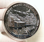 2014 United States Great Smoky Mountains Tennessee 5 Oz Pfl Silver Medal I95258
