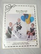 Love And Stitches 452 Boys Playsuit Sewing Pattern Sizes 2 - 5 Uncut Smocking