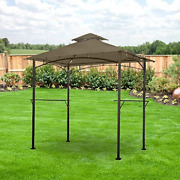 Garden Winds Lcm1196b-rs Lighted Grill Gazebo Riplock 350 Replacement Canopy,