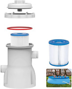 Eprosmin Pool Filter Pumps Above Ground -300 Gph Clear Cartridge Filter Pump For