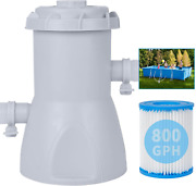 Omotor Pool Filter Pumps Above Ground - Clear Cartridge Filter Pump For Pools