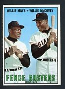 1967 Topps 423 Willie Mays Willie Mccovey Ex-mt/nr-mt 413472 Kycards