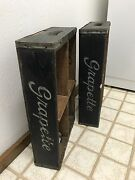 Two-rare 1950and039s Vintage Grapette Bottle Soda Wooden Crate Case