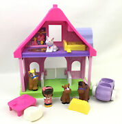 Fisher Price Little People Pink Pony Horse Stable Farm Barn Sounds And Animals