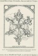 Antique Vicissitudes Changes Of Human Nature Globe Allegorical Small Art Print