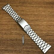 Rare 22mm Bambi Stainless Steel Divers Bracelet Nos Vintage Watch Band