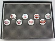 Lot Of 81 Inch Harley Davidson Motorcycles Marbles In Riker Display Case New