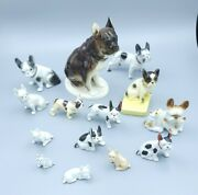 Lot Of 14 French Bulldog Vintage Dog Figurines 1 To 8