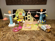 Calico Critters Baby Playground And Carnival Rides Ferris Wheel Castle Train Set
