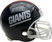Eli Manning Ottis Anderson And Phil Simms Giants Signed Signed Helmet And Inscs