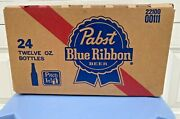 Vintage Pabst Blue Ribbon Returnable 24 12 Oz Bottle Case Awesome Condition