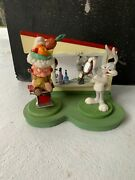 Looney Tunes Spotlight Goebel Barber Shop Hair Do And Bad Hare Day Figurine Lot