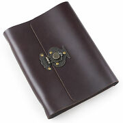 Ancicraft Refillable Leather Journal Diary With Flower Vase Lock A5 Lined Gift