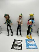 Monster High Boy Doll Bundle Claws Wolf Deuce Gorgon Neighthan Rot + Outfits