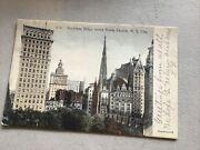 3 Antique Nyc Postcards City Views Buildings Undivided Back 1907 Bank, Hotel
