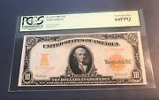 1907 10 Gold Certificate Very Choice Uncirculated Pcgs 64 Ppq Pretty