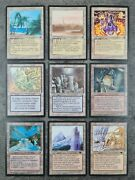 Magic The Gathering - Rare And Uncommon B/b Land Collection -vintage Mtg Lot