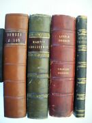 Lot Of 4 Charles Dickens 1st Edition Books Little Dorrit Chuzzlewit Dombey Drood