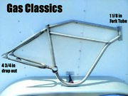 Board Track Racer 2 Inch Bicycle Frame Harley Indian Tribute Raw Steel