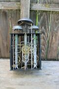 French Morbier Quarter Hour Bell Strike Tall Case Clock Movement 3 Weight Driven