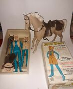 Marx Jane And Josie West Cowgirl Jointedt Flame Horse Tan Palomino Box And Accessori