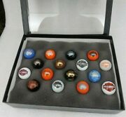 Lot Of 16 Harley Davidson Motorcycles Marbles In Riker Display Case New