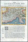1597/8 Antique Map Foro Dr Giulio North East Italy Slovenia By Magini G57