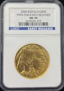 2008 Buffalo 50 Gold Coin Early Releases Ngc Ms 70