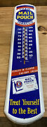 Vintage Metal Thermometer Chew Mail Pouch Tobacco Works 38andrdquo Vca Tru Temp