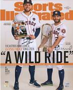 Jose Altuve And George Springer Astros Signed 16 X 20 Sports Illustrated Photo
