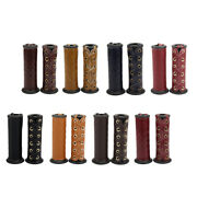 1 Pair Of Artificial Leather Grip Covers For 7/8 - 1 Handlebars