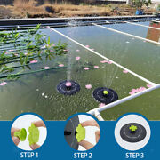 Solar Fountain Pump With 11 Different Spray Pattern Heads For Pond Fountain