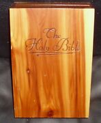 Vintage 1976 Holy Bible Illustrated Memorial And Catholic Edition In Wooden Box