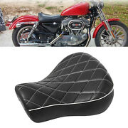 Rider Driver Solo Seat Cushion For Harley Sportster Xl883c Xlh1100 Parts Acc