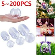 Clear Plastic Ball Bauble Sphere Fillable Home Party Ornament Craft Gift Box Lot