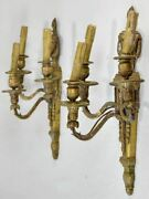 Pair Of 19th Century 3 Light Wall Sconces 20¾