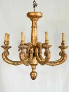 Early 19th Century Goose Neck Chandelier 27andfrac12