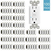 100pack 15amp Gfci Gfi Safety Outlet Receptacle Tamper Resistant Wr W/wall Plate
