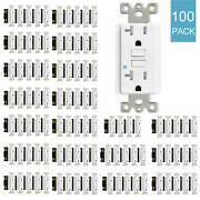 100pack 20amp Gfci Gfi Safety Outlet Receptacle Tamper Resistant Wr W/wall Plate