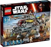 Lego 75157 Star Wars Captain Rexand039s At-te Building Kit 972 Pcs New Rebels
