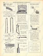 1920s Antique Hardware Ad Axles-mud Guards-bicycle Stands/lamps-coaster Brakes