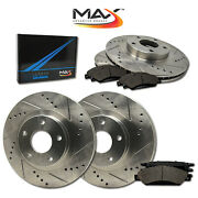2011 Fit Lexus Gs450h Canada Model Slotted Drilled Rotor W/metallic Pads F+r
