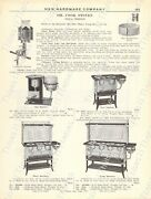1920s Antique Hardware Ad Haw's Pride And Nesco's Perfect Oil Cook Stoves