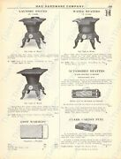 1920s Antique Hardware Ad Laundry Stoves-water Heaters-oil Heaters-gas Ranges