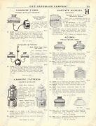 1920s Antique Hardware Ad Gasoline Lamps,shades,chimneys-lanterns And Supplies