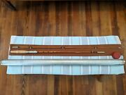 Vintage Bamboo Casting Rod 5 1/2and039 2/1 17/64th F