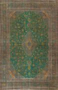 Antique Overdyed Ardakan Floral Evenly Low Pile Handmade Area Rug 9x12 Ft Carpet