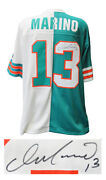 Dan Marino Signed Dolphins 1984 T/b Teal And White Mitchell And Ness Split Jersey-ss